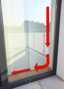 Umgang mit bodentiefen Fenstern