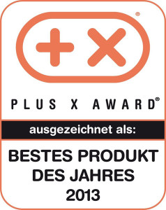 Plus-X-Award für den Fenstersauger 51114 als bestens Produkt des Jahres 2013