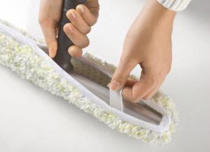 Klettverschluss-Verschluss zur sicheren Befestigung des Bezuges